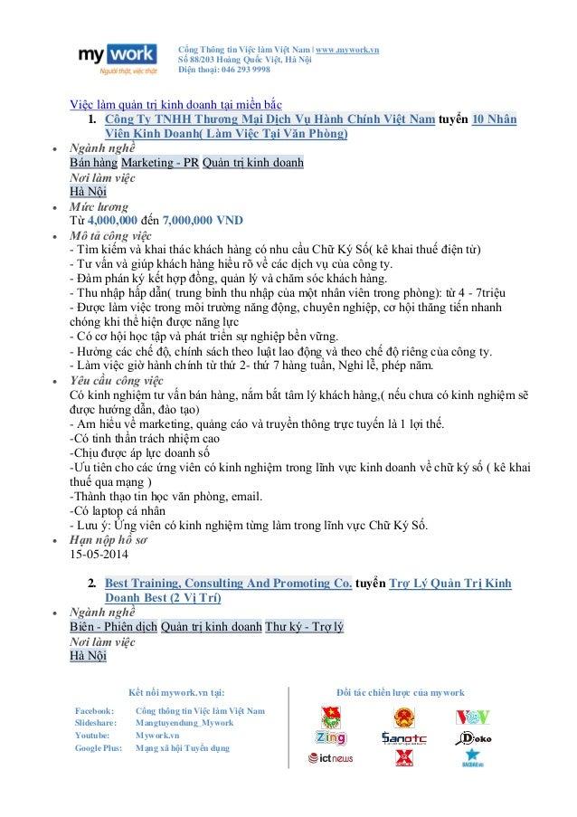 Cổng Thông tin Việc làm Việt Nam   www.mywork.vn Số 88/203 Hoàng Quốc Việt, Hà Nội Điện thoại: 046 293 9998 Kết nối mywork...