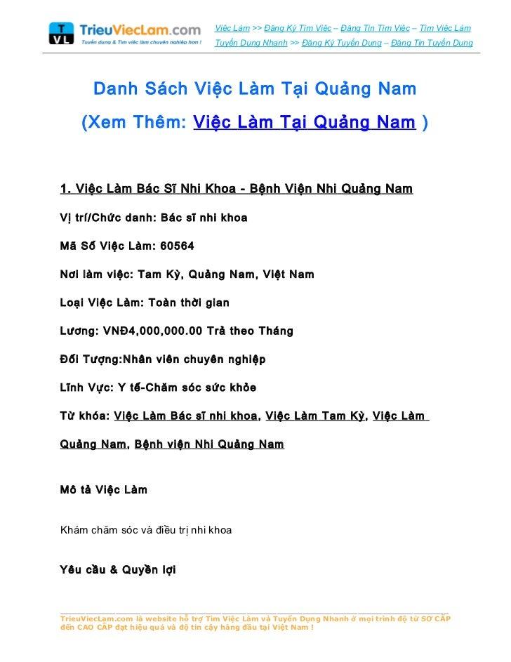 Tuyển dụng, việc làm Quảng Nam - Home | Facebook