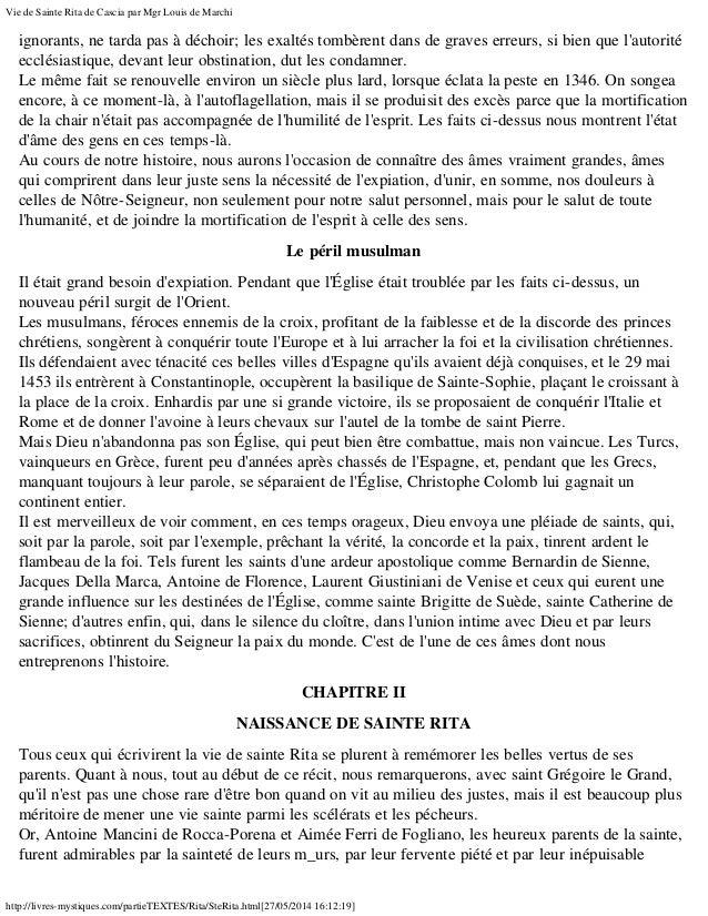 Vie de Sainte Ritata de Cascia, la Sainte des cas désespérés et impossibles Slide 3