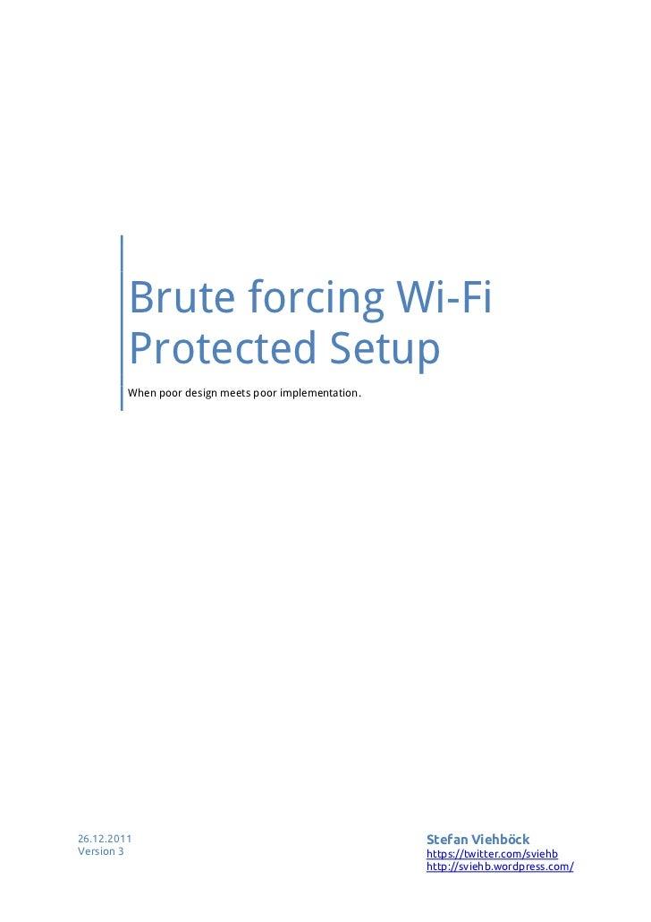 wifi protected setup
