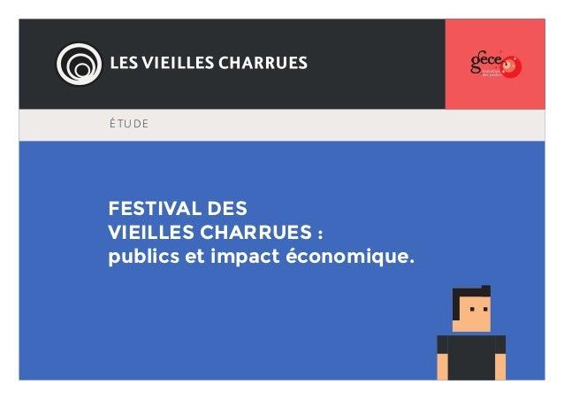 ÉTUDE  FESTIVAL DES VIEILLES CHARRUES : publics et impact économique.