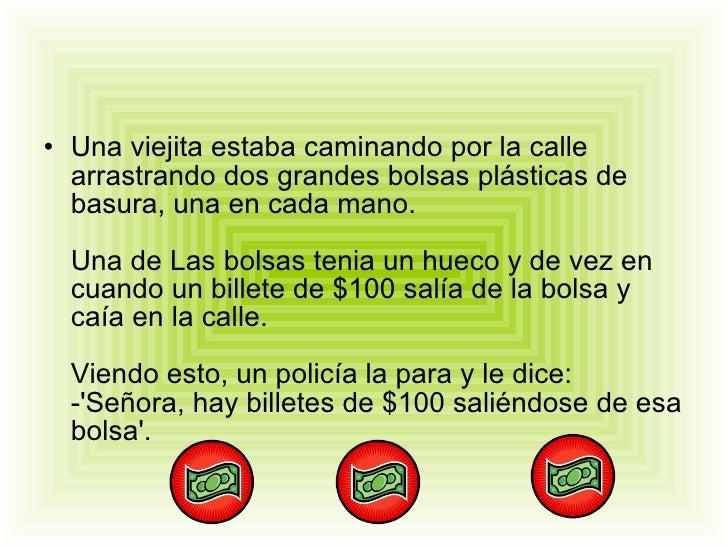 La Viejita y sus bolsas Slide 2