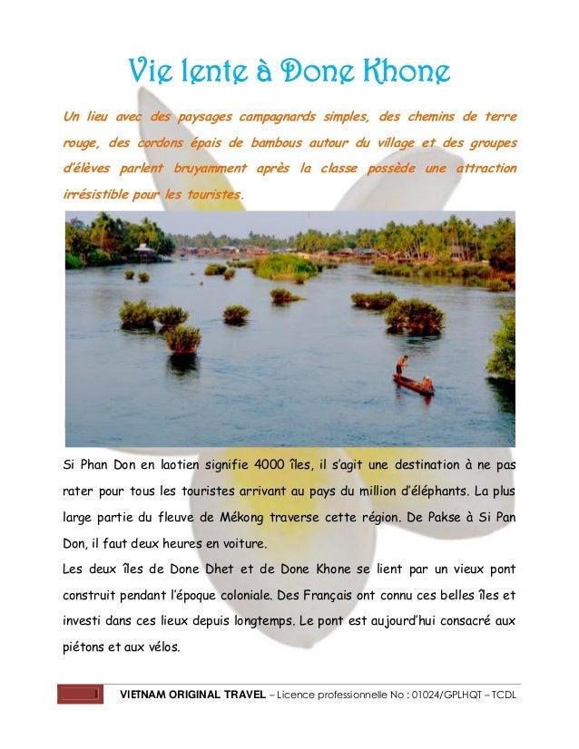 Vie lente à Done Khone Un lieu avec des paysages campagnards simples, des chemins de terre rouge, des cordons épais de bam...