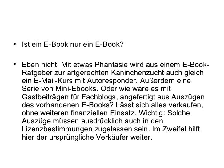 • Ist ein E-Book nur ein E-Book?• Eben nicht! Mit etwas Phantasie wird aus einem E-Book-  Ratgeber zur artgerechten Kaninc...
