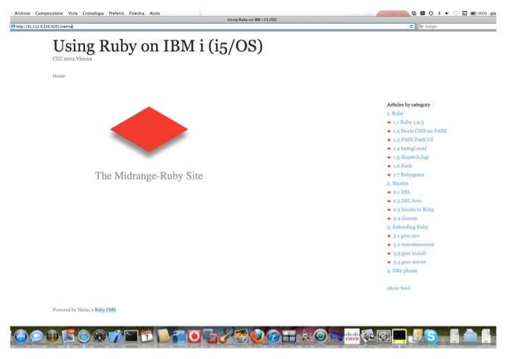 Using Ruby on IBM i (i5/OS)