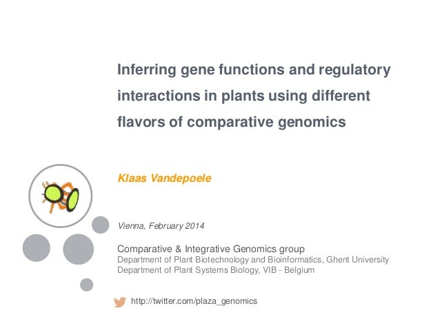 Inferring gene functions and regulatory interactions in plants using different flavors of comparative genomics Vienna, Feb...