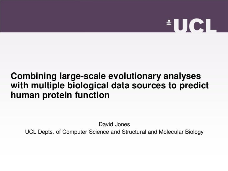 Combining large-scale evolutionary analyseswith multiple biological data sources to predicthuman protein function         ...