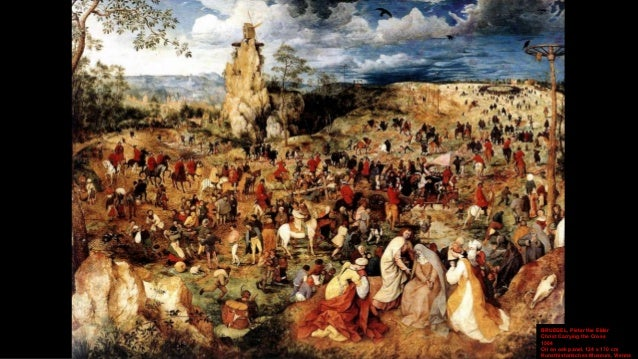BRUEGEL, Pieter the Elder Christ Carrying the Cross (detail) 1564 Oil on oak panel, width of detail 36 cm Kunsthistorische...