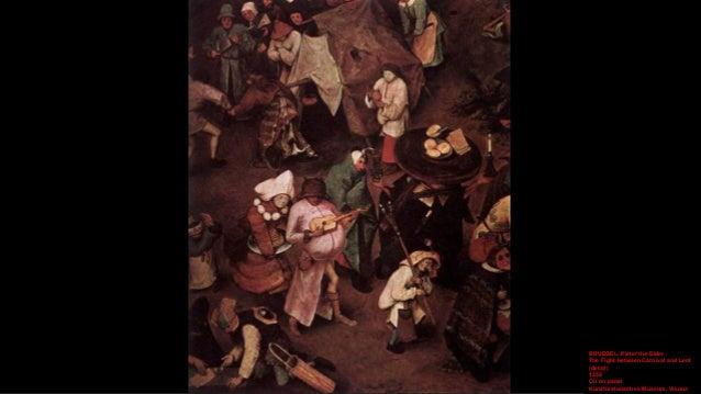 BRUEGEL, Pieter the Elder The Fight between Carnival and Lent (detail) 1559 Oil on panel Kunsthistorisches Museum, Vienna
