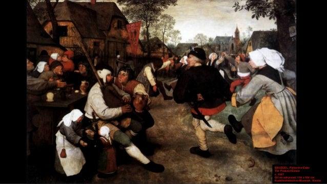 BRUEGEL, Pieter the Elder The Peasant Dance (detail) c. 1567 Oil on oak panel, width of detail 25 cm Kunsthistorisches Mus...
