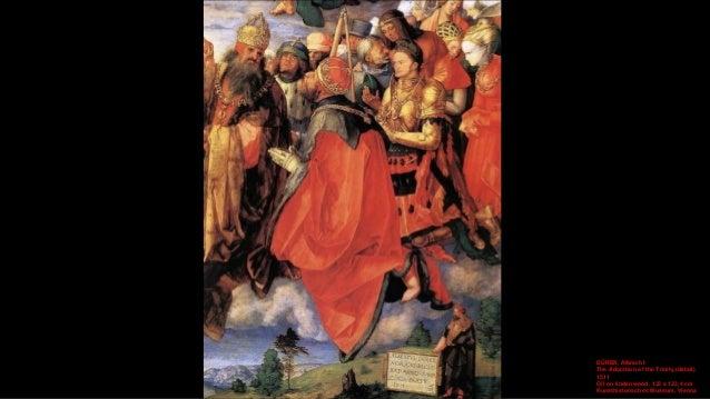 DÜRER, Albrecht The Adoration of the Trinity (detail) 1511 Oil on lindenwood, 135 x 123,4 cm Kunsthistorisches Museum, Vie...