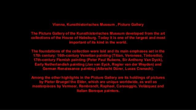 Vienna, Kunsthistorisches Museum: Picture Gallery, The Masterpieces