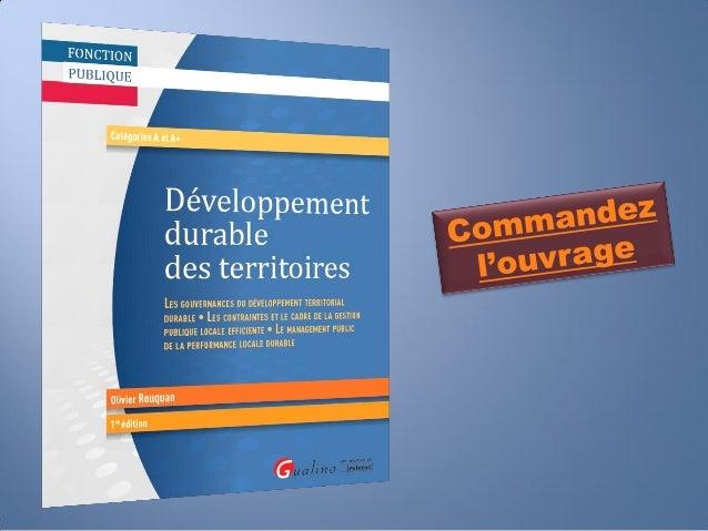 Viennent de paraître : culture territoriale et développement durable des territoires