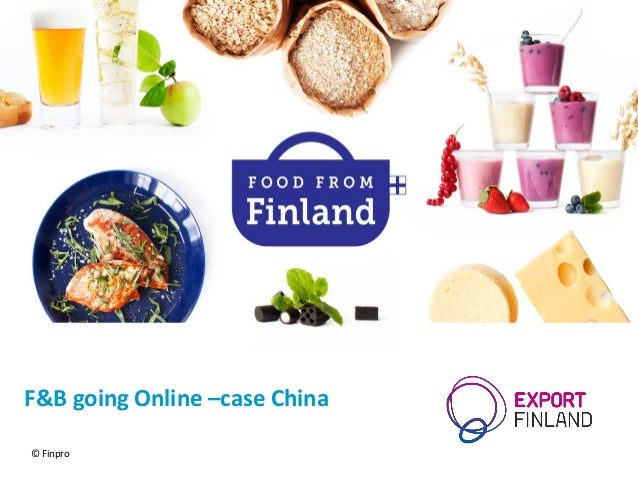 F&B going Online –case China © Finpro