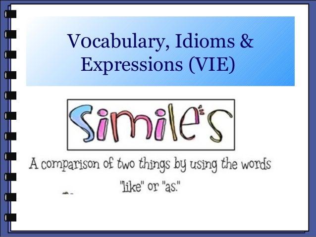 V0cabulary, Idioms &Expressions (VIE)