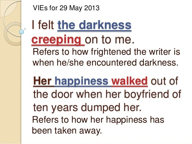 VIEs on Personification