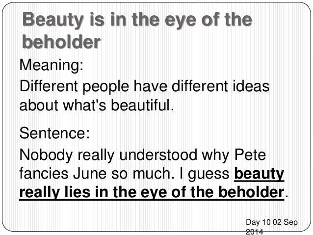 Essay beauty lies eyes beholder