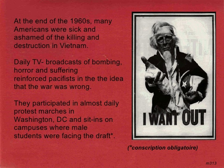 At the end of the 1960s, many Americans were sick and ashamed of the killing and destruction in Vietnam.  Daily TV- broadc...