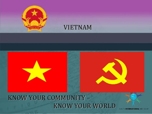 VIETNAMVIETNAM KNOW YOUR COMMUNITY –KNOW YOUR COMMUNITY – KNOW YOUR WORLDKNOW YOUR WORLD