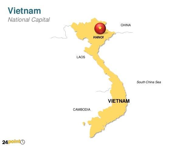 Editable PPT Map Of Vietnam - Map of vietnam