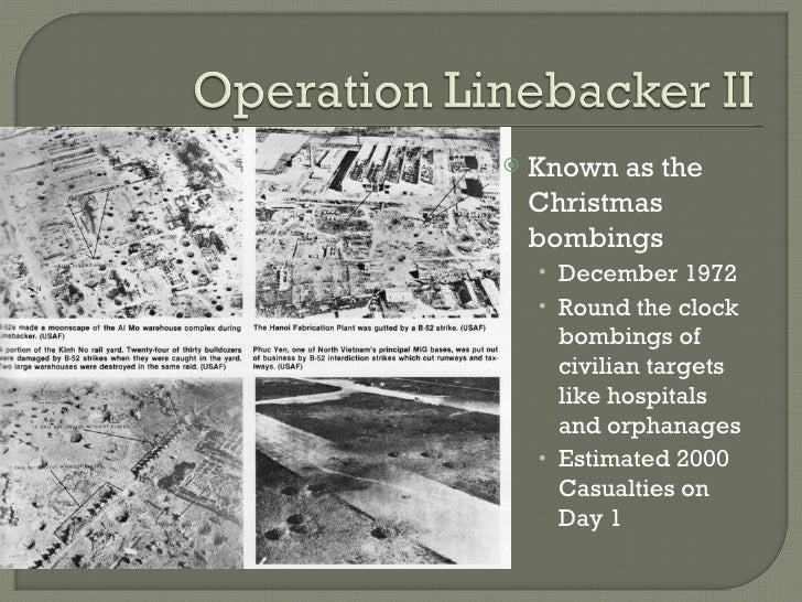 6 known as the christmas bombings - Christmas Bombings
