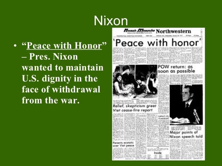 Peace with honor nixon jens
