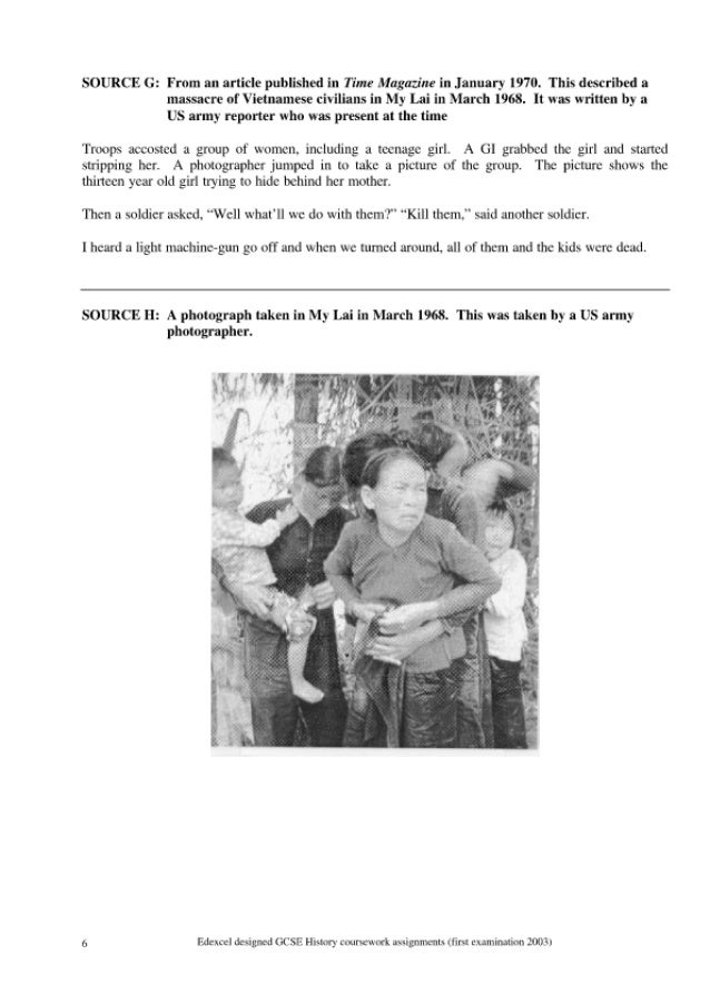 vietnam coursework questions The vietnam war (1945–1975)  diem and the republic of vietnam: 1955–1960  study questions & essay topics quizzes.