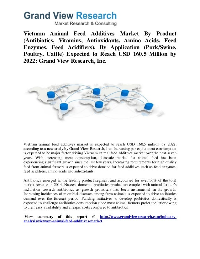 Vietnam Animal Feed Additives Market By Product (Antibiotics, Vitamins, Antioxidants, Amino Acids, Feed Enzymes, Feed Acid...