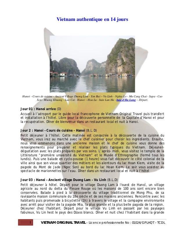 Vietnam authentique en 14 jours Hanoi - Cours de cuisine - Ancient Village Duong Lam - Yen Bai – Vu Linh - Nghia Lo - Mu C...