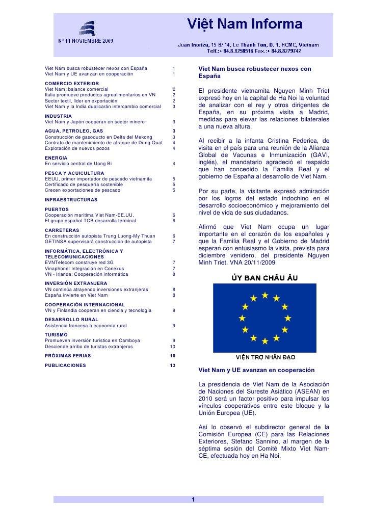 Viet Nam busca robustecer nexos con España             1        Viet Nam busca robustecer nexos con Viet Nam y UE avanzan ...