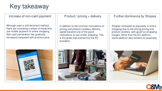 Key takeaway Product / pricing + delivery In addition to the common motivations of pricing and product varieties, delivery...