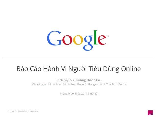 Khảo sát hành vi người tiêu dùng VN năm 2014 của Google
