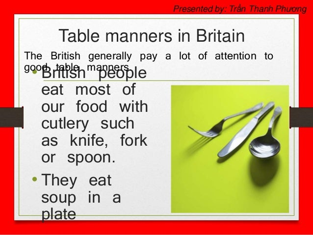 Table Manners In Britain