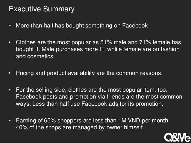 Vietnamese shopping on facebook