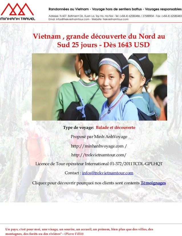 Vietnam , grande découverte du Nord auSud 25 jours - Dès 1643 USDType de voyage: Balade et découverteProposé par Minh AnhV...