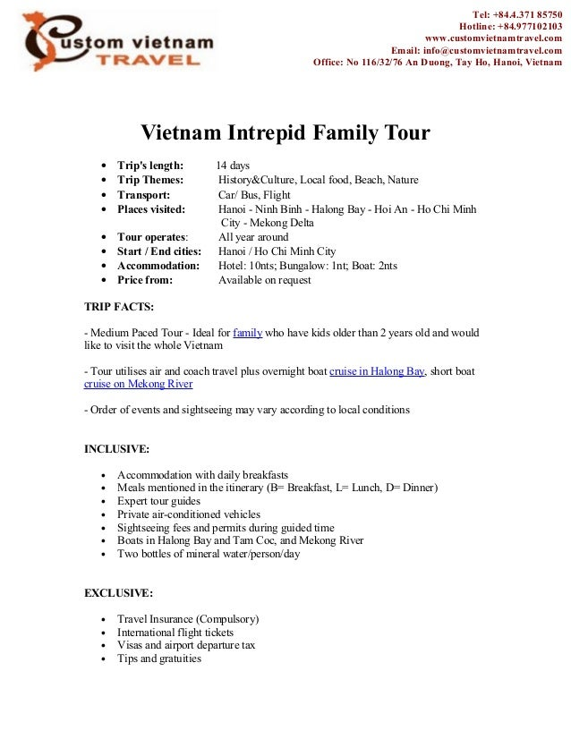 Vietnam Intrepid Family Tour• Trips length: 14 days• Trip Themes: History&Culture, Local food, Beach, Nature• Transport: C...