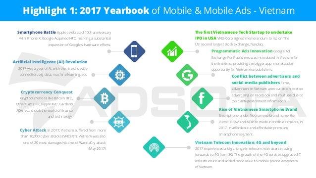 Highlight 1: 2017 Yearbook of Mobile & Mobile Ads - Vietnam Vietnam Telecom Innovation: 4G and beyond 2017 experienced a b...