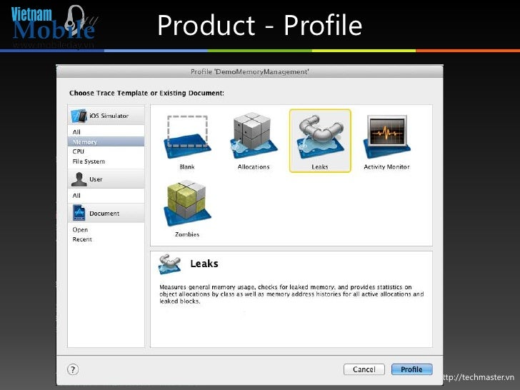 Product - Profile                    http://techmaster.vn