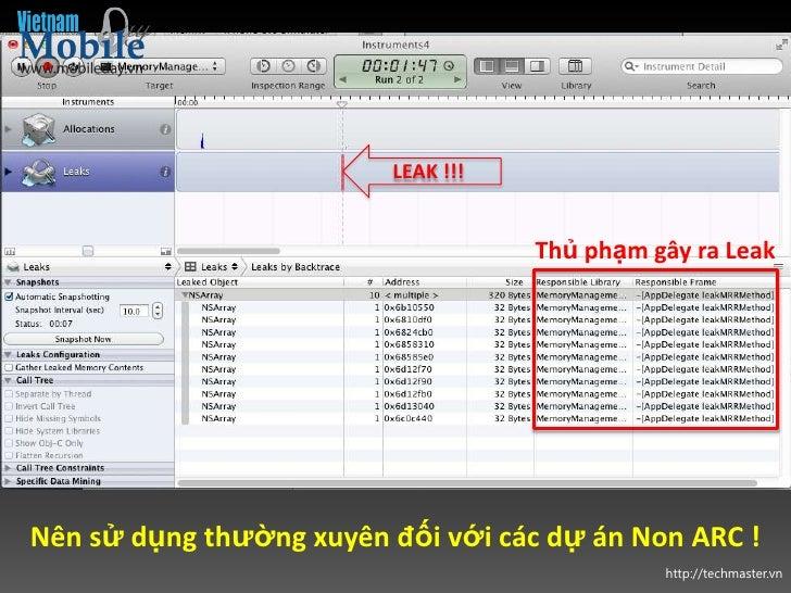 LEAK !!!                                    Thủ phạm gây ra LeakNên sử dụng thường xuyên đối với các dự án Non ARC !      ...