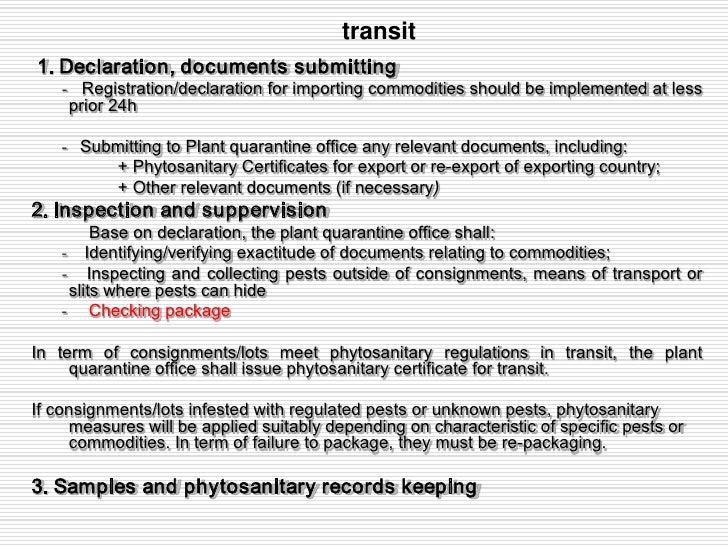 Vietnam Phytosanitary Procedures2011