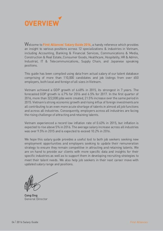 Vietnam Salary Guide 2016   First Alliances Slide 3