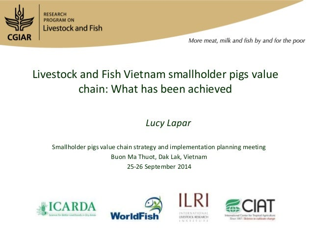 Livestock and Fish Vietnam smallholder pigs value  chain: What has been achieved  Lucy Lapar  Smallholder pigs value chain...