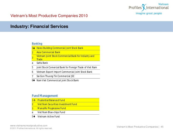 Vietnams Most Productive 2011