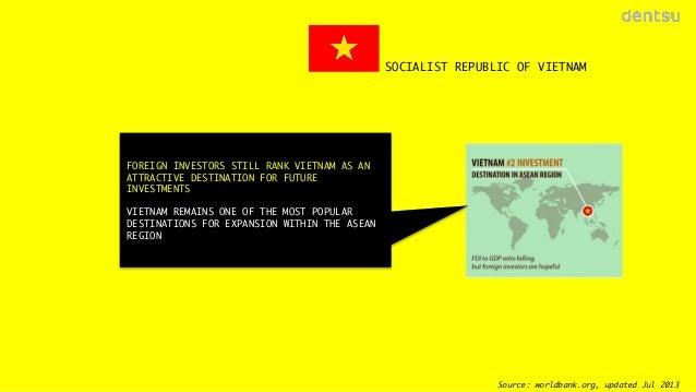 SOCIALIST REPUBLIC OF VIETNAM  FOREIGN INVESTORS STILL RANK VIETNAM AS AN ATTRACTIVE DESTINATION FOR FUTURE INVESTMENTS  V...