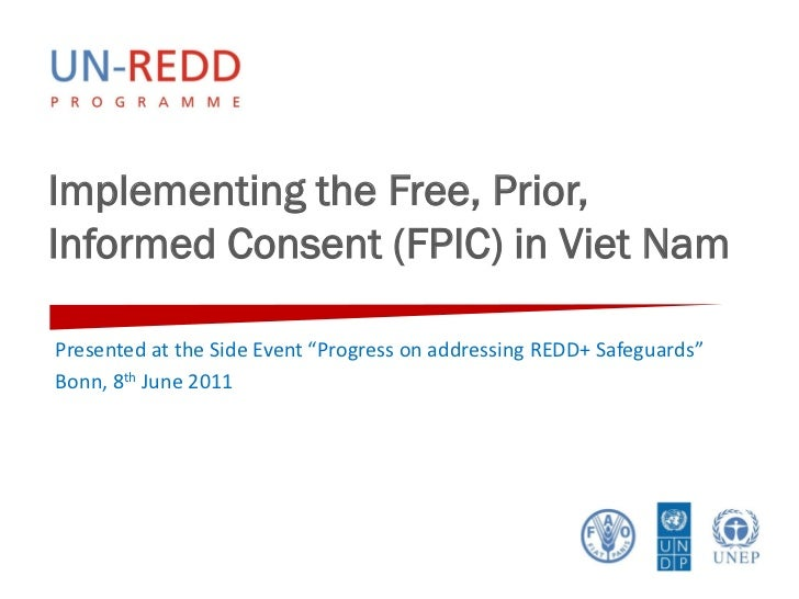 """Implementing the Free, Prior,Informed Consent (FPIC) in Viet NamPresented at the Side Event """"Progress on addressing REDD+ ..."""