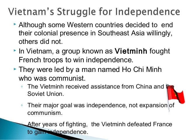 vietnam's struggle for freedom This is an unofficial english translation by international idea's socialist republic of vietnam independence- freedom struggle full of hardships and.