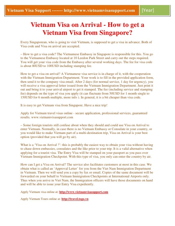 how to get visa to travel to vietnam