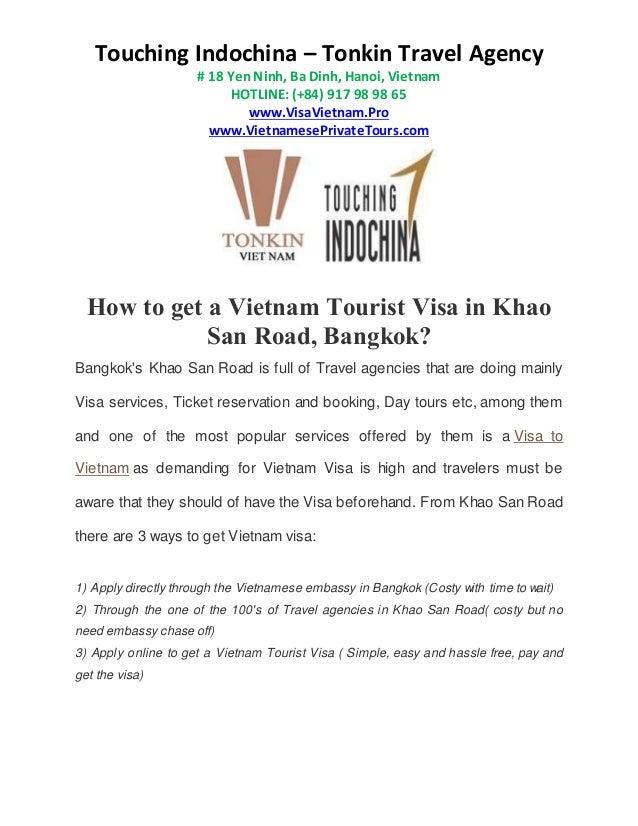 How To Apply For Vietnam Visa Fron Khao San Road Bangkok