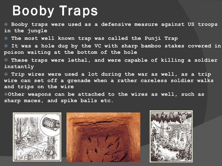 Viet Cong Booby Traps During The Vietnam War.