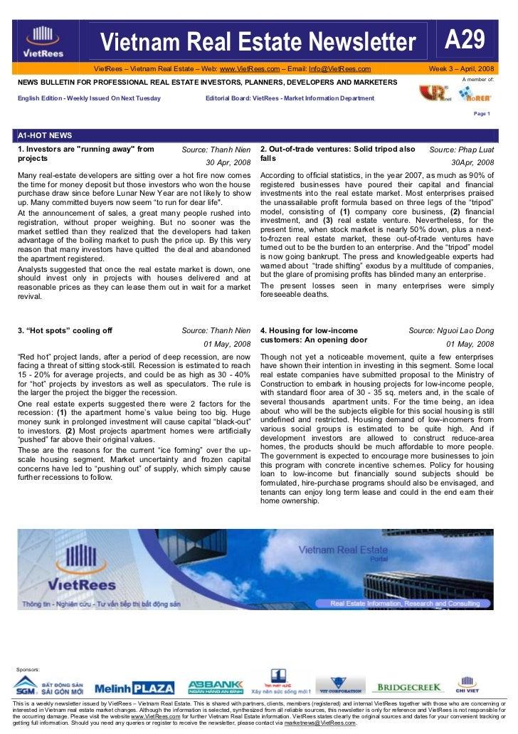 Vietnam Real Estate Newsletter                                                                                            ...